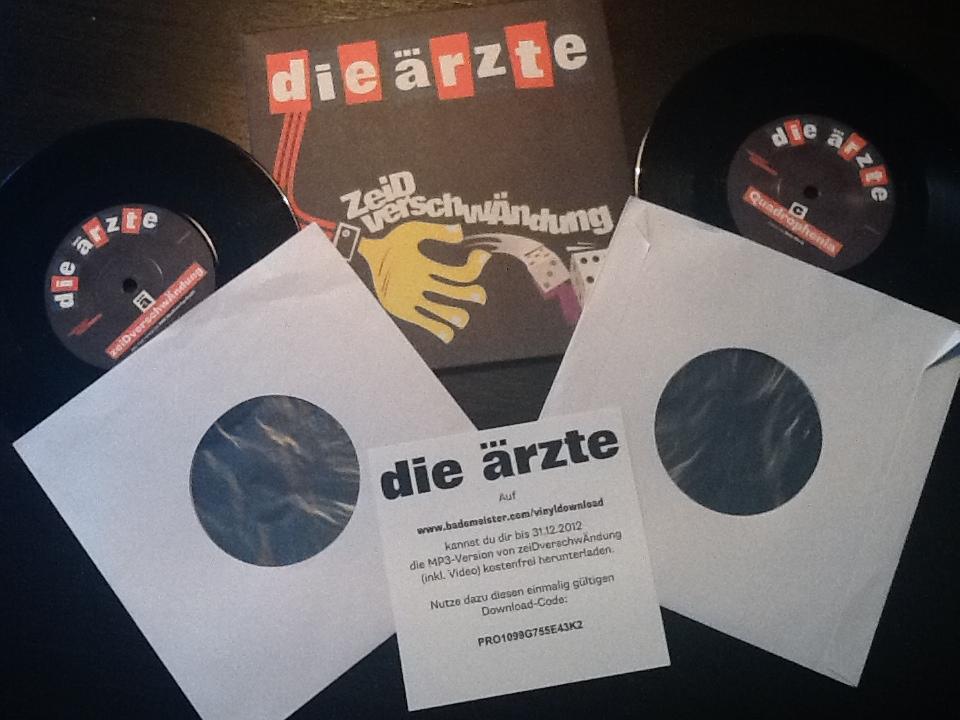 Die Ärzte sind keine Zeidverschwändung – 7″ EP auf Vinyl